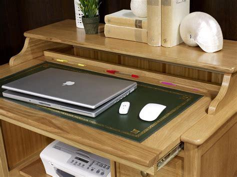 bureau informatique en bois petit bureau informatique emeric en chêne de style louis