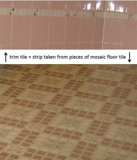 idea for inexpensive bathroom trim tile use pieces of