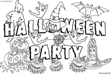 Coloriage Halloween Party Jecoloriecom
