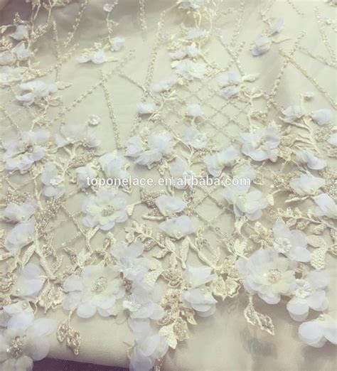 wholesale haute couture handmade beaded indian lace