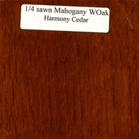 Quarter Sawn White Oak Wood Sample, Mahogany Finish