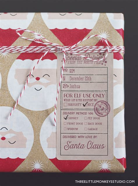 santas special delivery gift label tags worldlabel blog