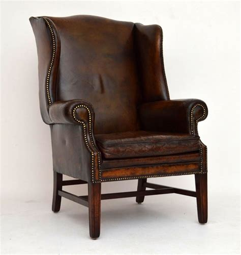 distressed leather armchair antique distressed leather wing back armchair 288998 3380