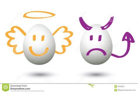 sieges enfants le bien et le mal image stock image du religion signe