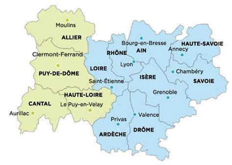 Carte Nouveau Monde 2017 Auvergne Rhone Alpes by R 233 Gion Auvergne Rh 244 Ne Alpes Arts Et Voyages