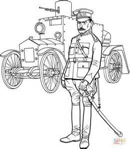 ww general officer  tank coloring page