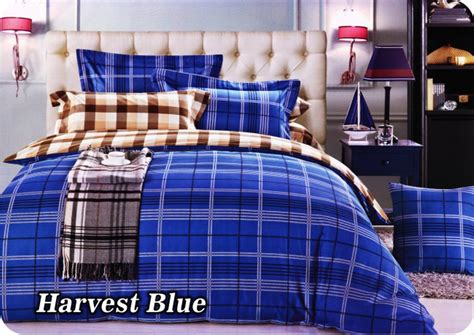 jual sprei fata signature uk 180 x 200 bantal 4 motif harvest blue di lapak dreams underdreams
