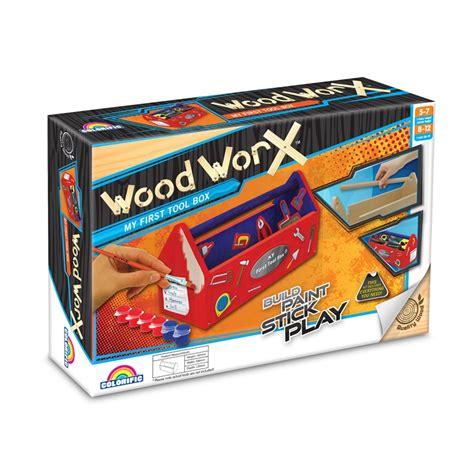 wood worx kids tool box craft kit bunnings warehouse