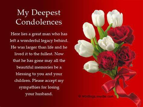 condolences messages sympathy messages for loss of husband wordings and messages