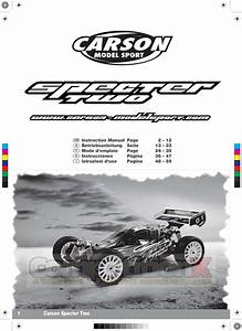 Carson Modelsport Specter Two Sport V21 Manual