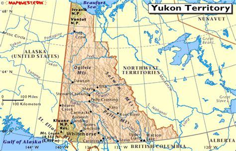 map   yukon territory canada