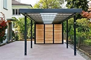 Einzelcarport Mit Geräteraum : carports metall uninorm technic ag ~ Buech-reservation.com Haus und Dekorationen