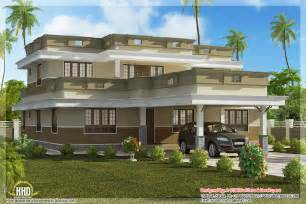 Flat Houses Designs Pictures by Flat Roof Home Design With 4 Bedroom Kerala Home Design
