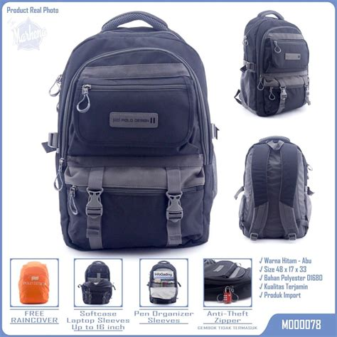 jual tas ransel backpack bodypack softcase laptop polo