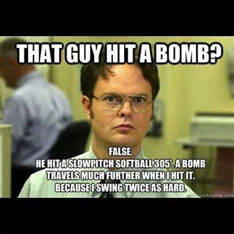 Softball Memes Slowpitch Softball Bomb Mens Slowpitch
