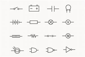 24 Electric Circuit Icons