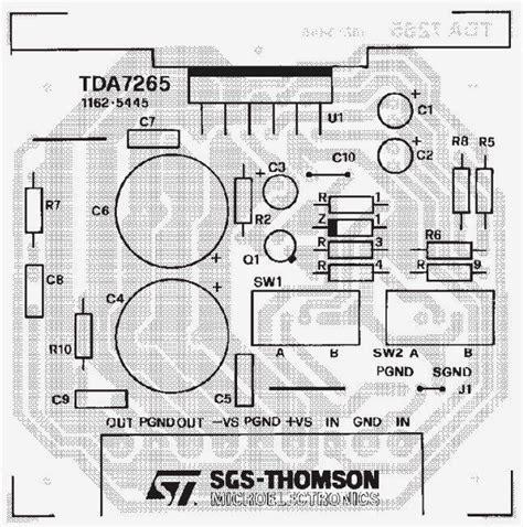 tda7265 subwoofer circuit diagram lifiercircuits mudy circuit diagram