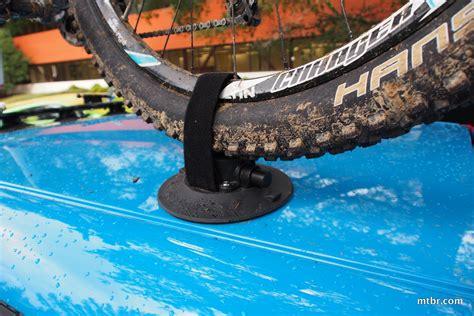 suction cup bike rack review seasucker mini bomber suction cup bike rack mtbr