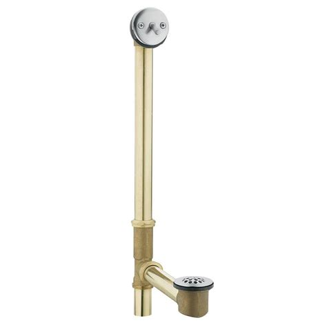 bathtub drain lever wont stay moen tub drain brass tubing whirlpool with trip lever