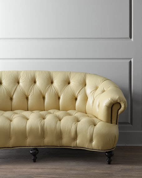 yellow settee hickory tannery lenoir yellow sofa