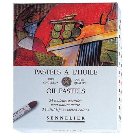 Membuat special effect dengan oil pastel : Sennelier Oil Pastels 24 Still Life Assorted Colours