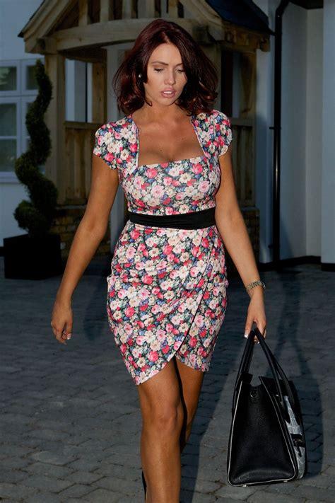 Amy Childs in Flowery Dress - March 2014 • CelebMafia