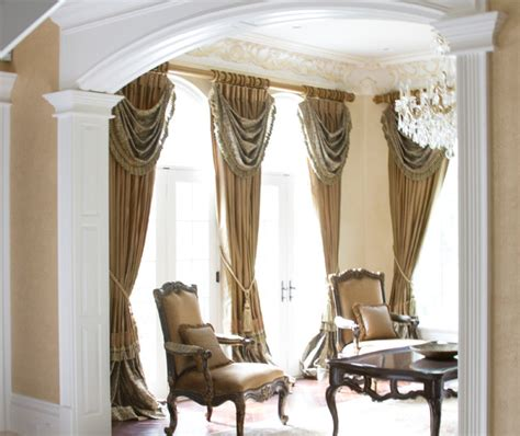 Houzz Living Room Curtains by Luxury Drapery Panels In Mequod Wisconsin Traditional