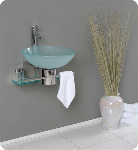 Glass Bathroom Sinks And Vanities by 18 Fresca Cristallino Fvn1012 Modern Glass Bathroom