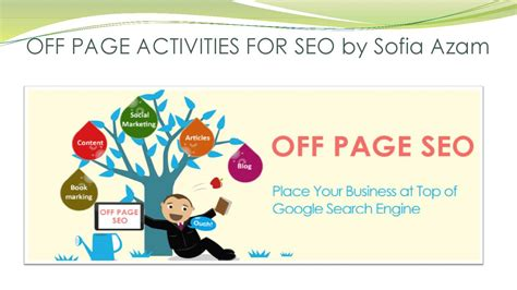 Seo Activities by Page Activities For Seo By Sofia Azam By Sofia Azam