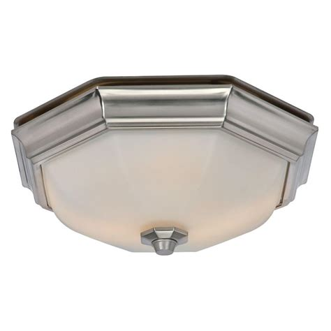 bathroom exhaust fan with light home depot hunter huntley decorative brushed nickel medium room size