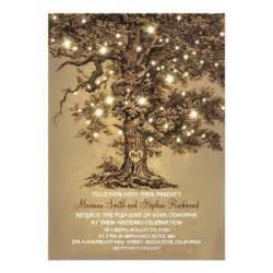 zazzle wedding invitations vintage string lights tree rustic wedding invites 5 quot x 7 quot invitation card zazzle