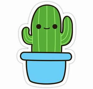 """""""Cute cactus in blue pot"""" Stickers by peppermintpopuk"""