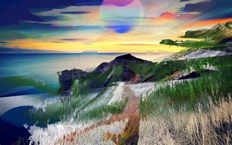 Digital Scenery Wallpaper by Wallpaper Sunlight Landscape Painting Digital
