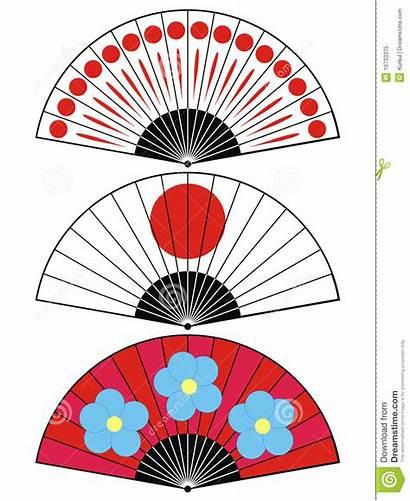 Fan Japan Illustration Traditional Royalty Flower Floral