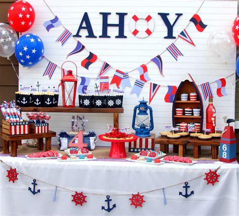 Ideas Nautical Theme by Ahoy A Nautical Backyard Summer Bash Great 4th Of July