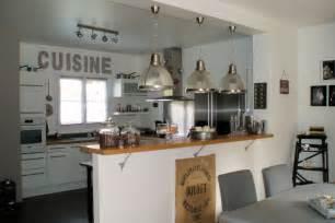 cuisine d 1 jour cuisine ouverte bar américain cuisine en image