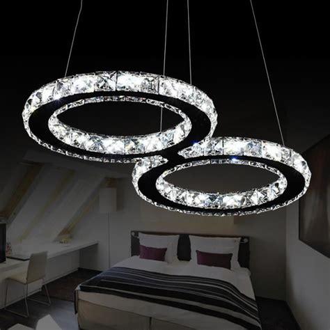 lustre de chambre pas cher 24w led lustre moderne en cristal 8 led cristal lustre