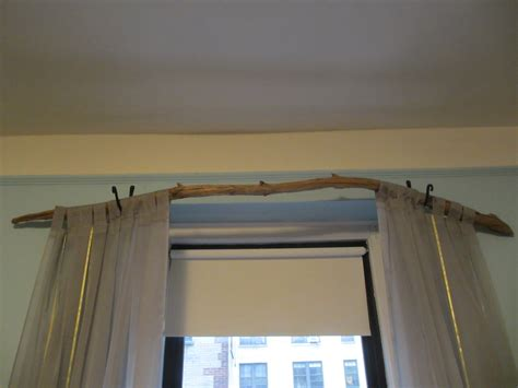 curtain rod for bay window tree branch curtain rod 15 diy tutorials guide patterns