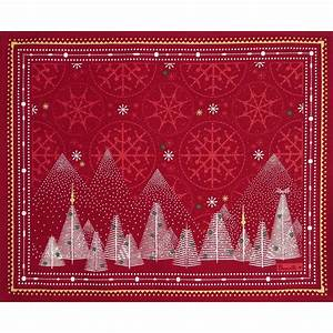 Red Cotton Placemat Megeve Placemat Beauvill