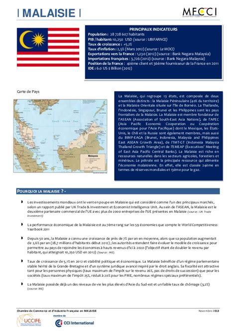 chambre de commerce malaisie fiche malaisie 2013 2014