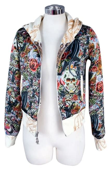 christian audigier reversible tattoo jacket sweatshirt