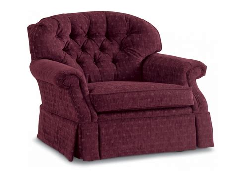 lazy boy chair traditional swivel rocker with tufted back