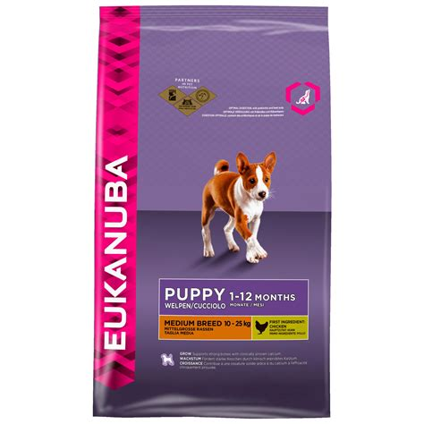 eukanuba premium hundefutter fuer welpen mittelgrosser