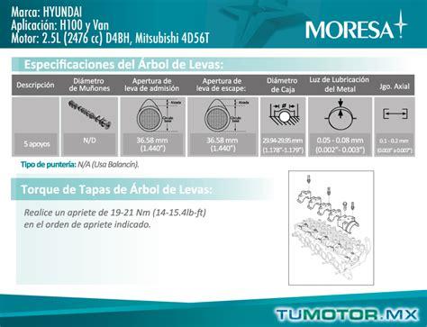 sincronizaci 243 n motor hyundai 2 5l l4 2476 cc 8 val sohc d4bh mitsubishi 4d56t h100