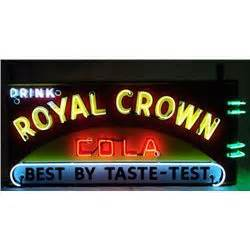Royal Crown Cola Neon over Porcelain Sign