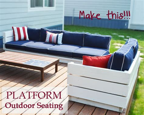 Outdoor Sectional Sofa Plans by White Platform Outdoor Sectional Diy Projects