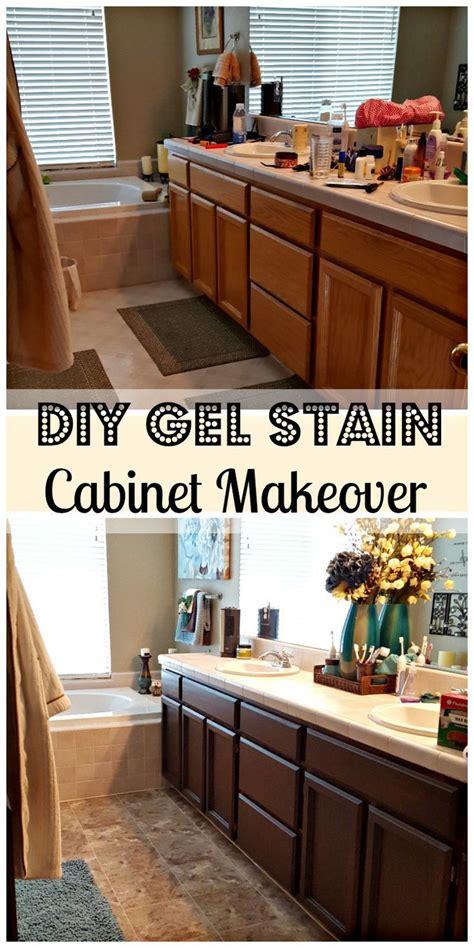 bathroom remodel diy  general finishes gel stain diy