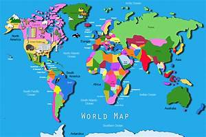 Its's a jungle in here!: Kids World Map
