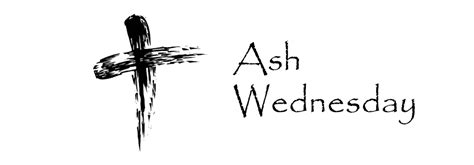 Ash Wednesday Services Noon & 7 pm