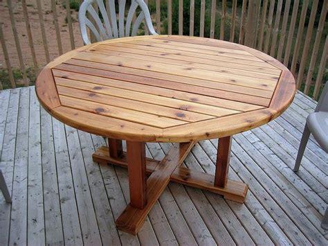 Cedar Patio Table W Hidden Coolers